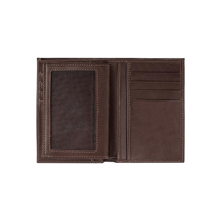 تصویر کیف پول چرم جیبی  کد p2 قهوه ای