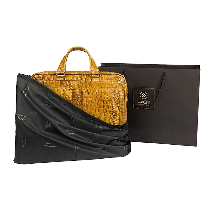 کیف چرم دو جیب BC27 خردلی