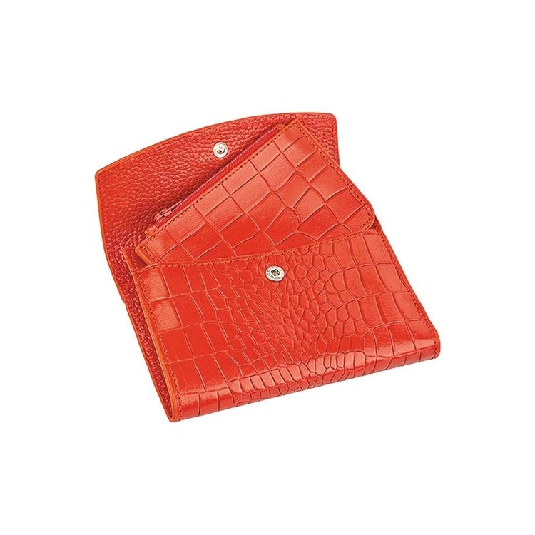 تصویر کیف پول زنانه چرم قرمز Z14