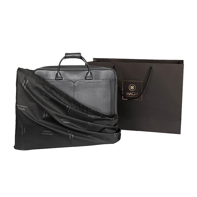 کیف چرم دورمغزی BC9 طوسی