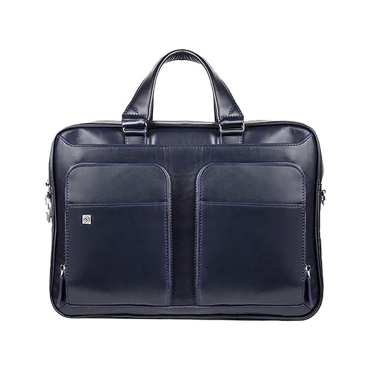 کیف چرم دو جیب BC27 سرمه ای