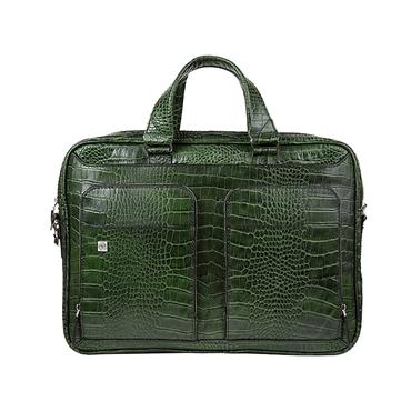 کیف چرم دو جیب BC27 سبز