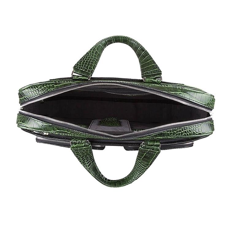 زاویه داخلی کیف چرم دو جیب BC27 سبز