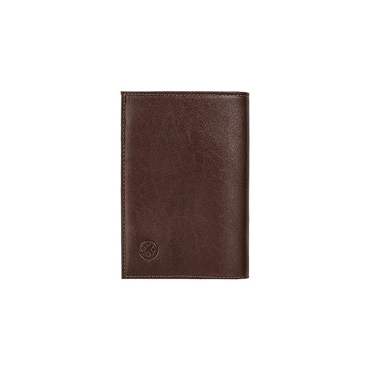 تصویر کیف پول چرم جیبی  کد p2 قهوه ای -انبارتکانی